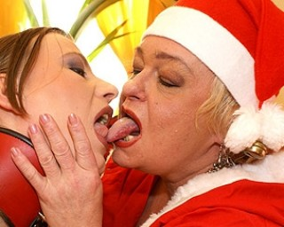 Mrs Claus loves her pussy young and wet